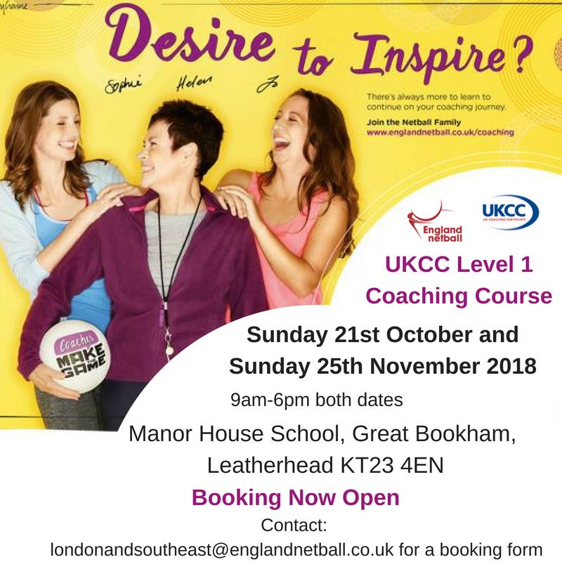 UKCC Level 1 Coaching Course- Manor House School